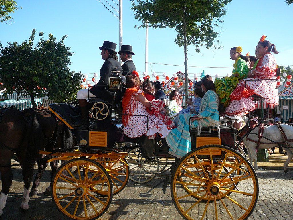 Rijtuig op de Feria de Abril in Sevilla