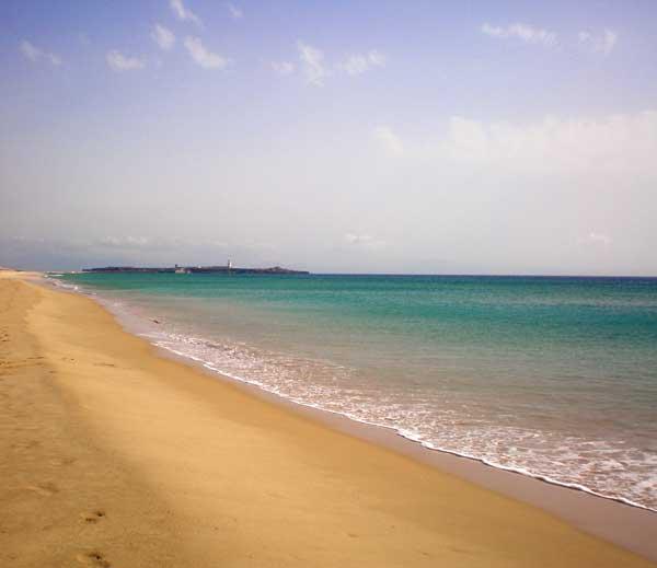 Strand in de provincie Cadiz, Andalusië