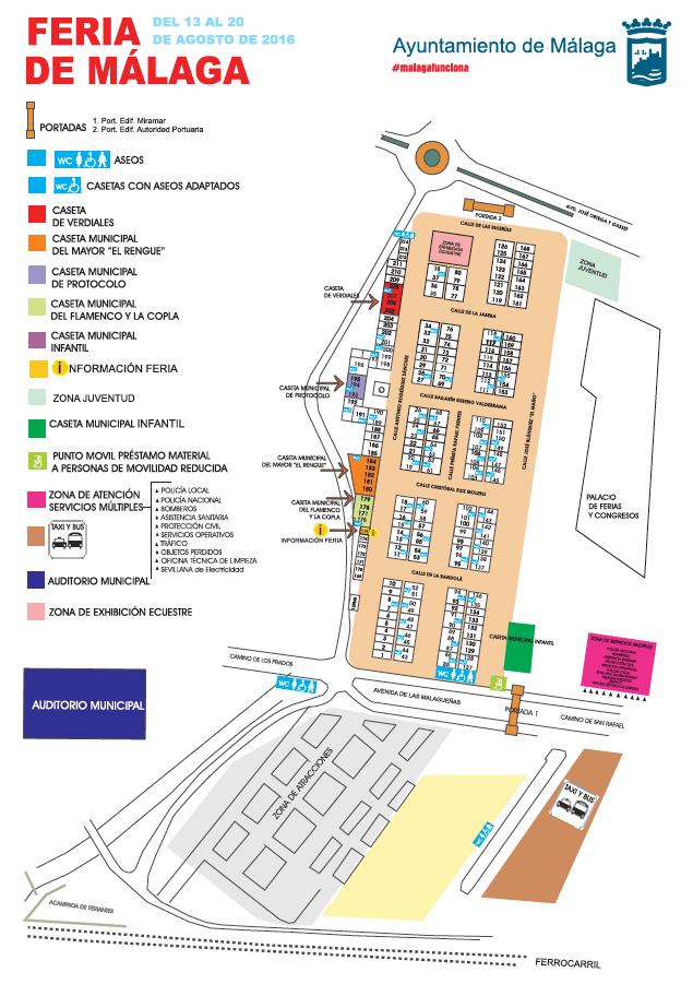 Kaart Feria de Malaga